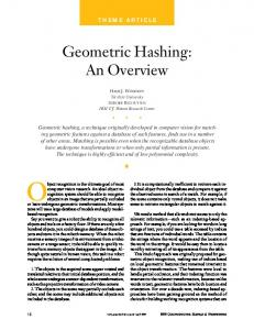 Geometric Hashing: An Overview - IEEE Computer Society
