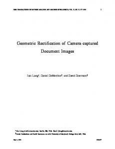 Geometric Rectification of Camera-captured Document Images