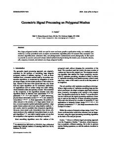 Geometric Signal Processing on Polygonal Meshes