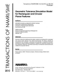 Geometric Tolerance Simulation Model for