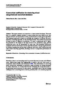 Geometrical codification for clustering mixed ... - Springer Link
