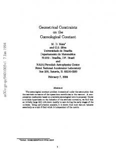 Geometrical Constraints on the Cosmological Constant