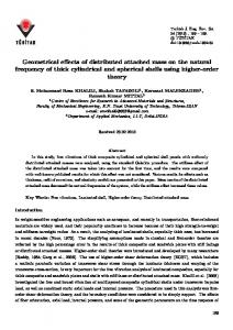 Geometrical effects of distributed attached mass on the ... - DergiPark