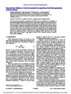 Geometrical effects on the thermoelectric properties of ballistic