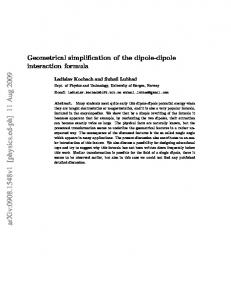 Geometrical simplification of the dipole-dipole interaction formula