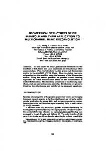 geometrical structures of fir manifold and their