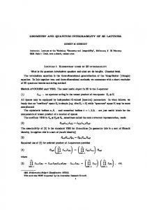 GEOMETRY AND QUANTUM INTEGRABILITY OF