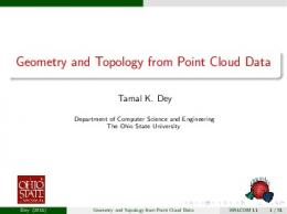 Geometry and Topology from Point Cloud Data