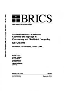 Geometry and Topology in Concurrency and Distributed ... - brics