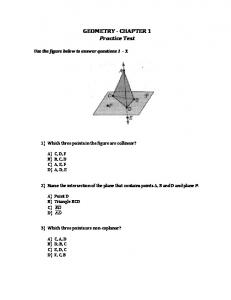 Geometry Chapter 1 Practice Test