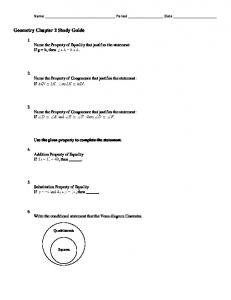 Geometry Chapter 2 Study Guide