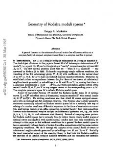 Geometry of Kodaira moduli spaces