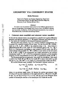 Geometry via coherent states