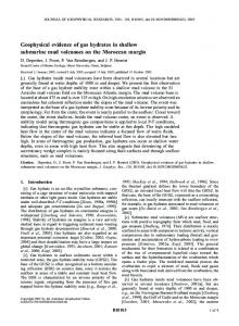 Geophysical evidence of gas hydrates in shallow submarine mud ...