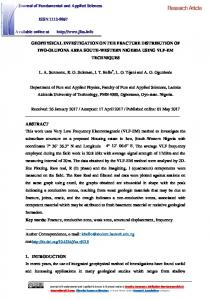 Geophysical investigation on the fracture distribution ...