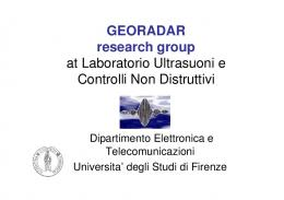 GEORADAR research group at Laboratorio ... - neogeo.unisi.it