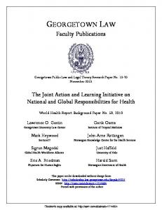 georgetown law - (SSRN) Papers