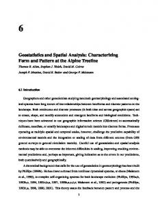 Geostatistics and Spatial Analysis: Characterizing