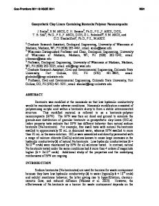 Geosynthetic Clay Liners Containing Bentonite Polymer Nanocomposite