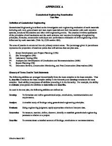 Geotechnical Engineering Test Plan
