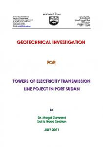 geotechnical investigation for