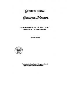 geotechnical.doc - Kentucky Transportation Cabinet