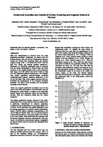 Geothermal Anomalies and Analysis of Gravity