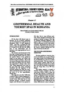 geothermal health and tourist spas in romania - Stanford Earth