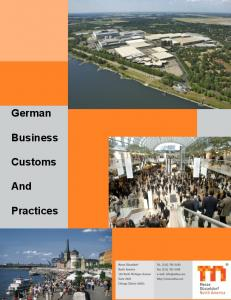 German Business Customs And Practices