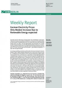German Electricity Prices - DIW Berlin