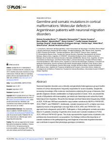 Germline and somatic mutations in cortical ... - Semantic Scholar