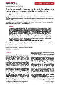 Germline and somatic polymerase and mutations ... - BioMedSearch