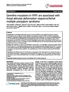 Germline mutations in RYR1 are associated with