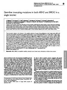 Germline truncating mutations in both MSH2 and ... - BioMedSearch