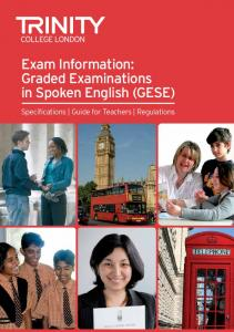 GESE Exam Information booklet - Trinity College London
