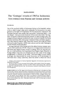 Gestapu - Brill Online Books and Journals