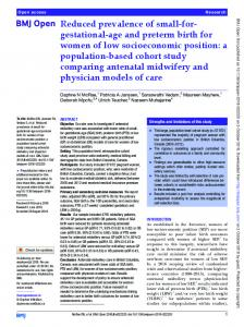gestational-age and preterm birth for women of low