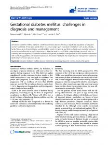 Gestational diabetes mellitus - Semantic Scholar