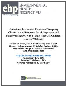 Gestational Exposure to Endocrine-Disrupting Chemicals and ...