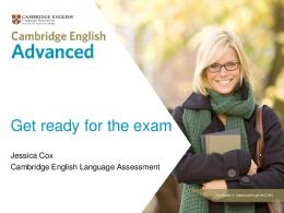 Get ready for the exam - Cambridge English