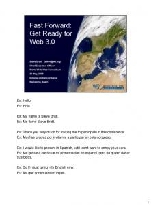 Get Ready for Web 3.0 - World Wide Web Consortium