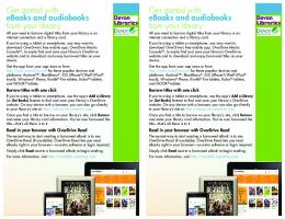 Get started with Get started with eBooks and audiobooks eBooks ...