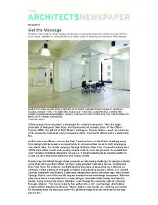 Get the Message - Cary Bernstein Architect