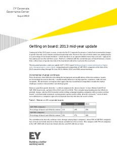 Getting on board: 2013 mid-year update