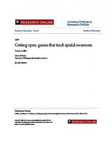 Getting open: games that teach spatial awareness - Research Online
