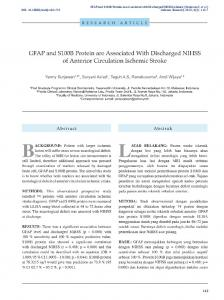 GFAP and S100B Protein are Associated with Discharged ... - Neliti