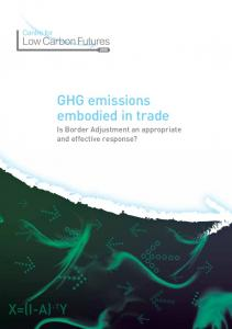 GHG emissions embodied in trade - Centre for Low Carbon Futures