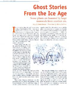 Ghost Stories from the Ice Age - The Great Story