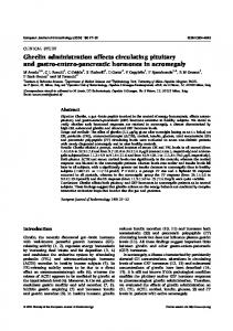 Ghrelin administration affects circulating pituitary