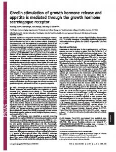 Ghrelin stimulation of growth hormone release and